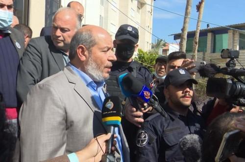 كلمة عضو المكتب السياسي لحركة حماس خليل الحية بعد تسجيل قائمة الحركة للانتخابات التشريعية