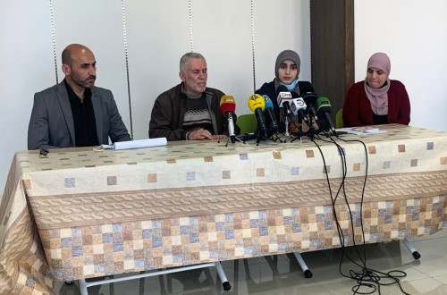 مؤتمر صحفي لقائمة القدس موعدنا في الضفة الغربية