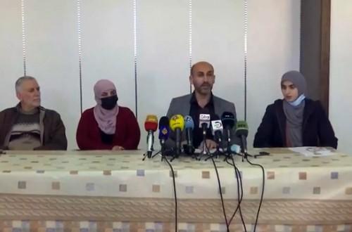 مؤتمر صحفي لقائمة القدس موعدنا في الضفة الغربية عقب اعتقال الاحتلال المرشح على قائمتها ناجح عاصي